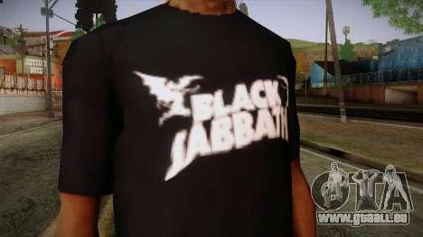 Black Sabbath T-Shirt pour GTA San Andreas troisième écran