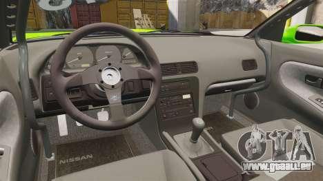Nissan Silvia S13 pour GTA 4 est une vue de l'intérieur