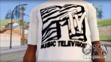 MTV T-Shirt für GTA San Andreas dritten Screenshot