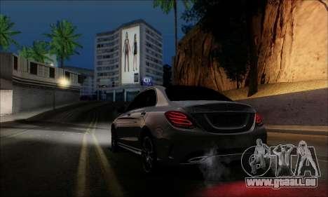 Mercedes-Benz C250 2014 V1.0 EU Plate für GTA San Andreas linke Ansicht