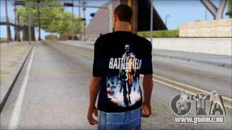 Battlefield 3 Fan Shirt für GTA San Andreas zweiten Screenshot
