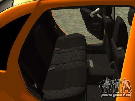 Lada Granta pour GTA San Andreas vue de dessous