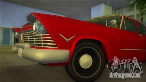 Plymouth Savoy Club Sedan 1957 pour une vue GTA Vice City de la droite