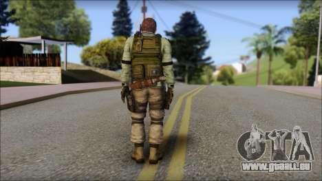 Chris Europa from Resident Evil 6 pour GTA San Andreas deuxième écran