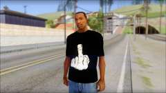 Black T-Shirt wBlack T-Shirt with middle finger für GTA San Andreas