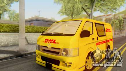 Toyota Hiace DHL Cargo Van 2006 für GTA San Andreas