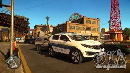 Kia Sportage Israel Police car (Mishtara) pour GTA 4