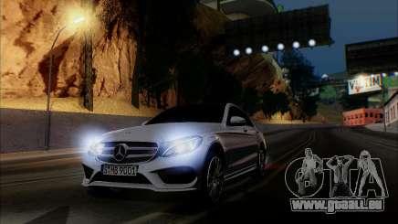Mercedes-Benz C250 2014 V1.0 EU Plate pour GTA San Andreas