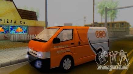 Toyota Hiace TNT Cargo Van 2006 pour GTA San Andreas
