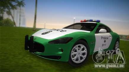 Maserati Granturismo Police pour GTA Vice City