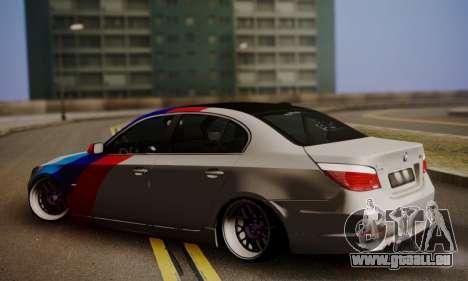 BMW M5 E60 Stance Works pour GTA San Andreas laissé vue