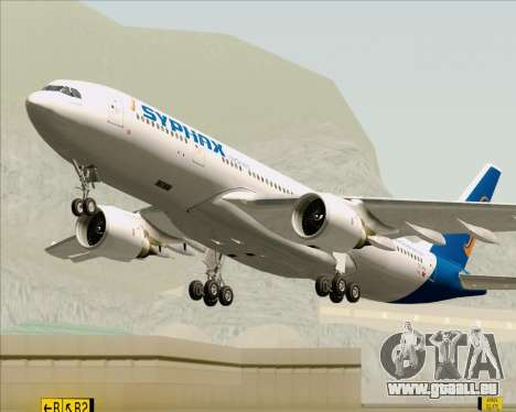 Airbus A330-200 Syphax Airlines für GTA San Andreas obere Ansicht
