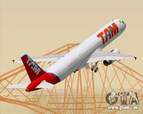 Airbus A321-200 TAM Airlines pour GTA San Andreas roue