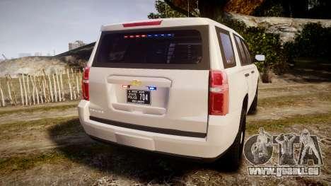 Chevrolet Tahoe 2015 PPV Slicktop [ELS] für GTA 4 hinten links Ansicht