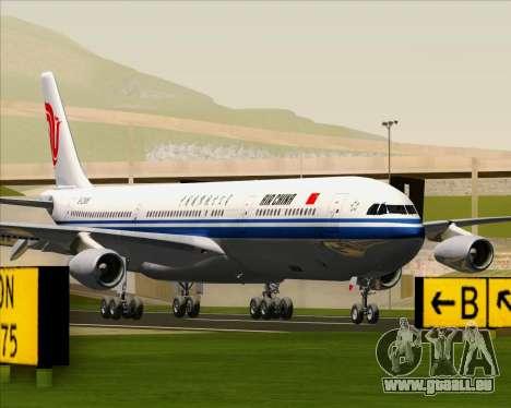 Airbus A340-313 Air China für GTA San Andreas zurück linke Ansicht