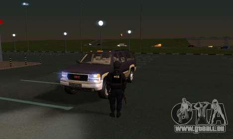 GMC Yukon XL ФСБ pour GTA San Andreas vue intérieure
