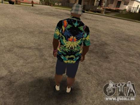 Chemise hawaïenne comme max Payne pour GTA San Andreas cinquième écran