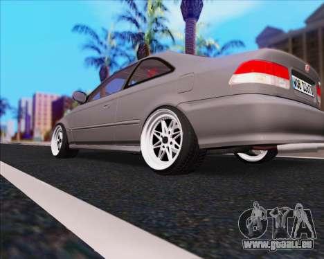 Honda Civic EM1 V2 pour GTA San Andreas sur la vue arrière gauche