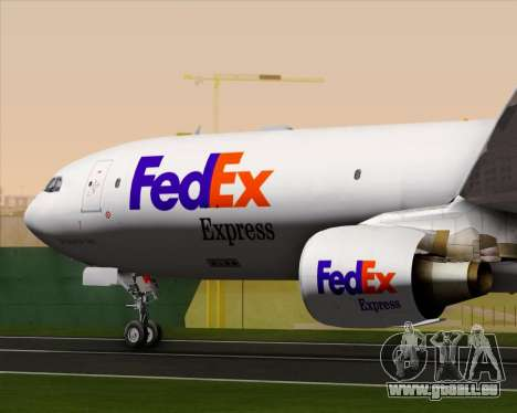 Airbus A330-300P2F Federal Express pour GTA San Andreas vue de dessous