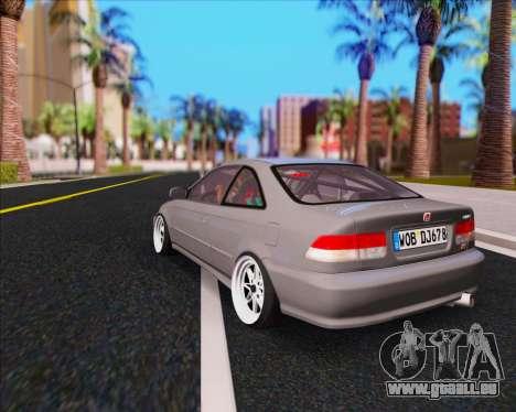 Honda Civic EM1 V2 pour GTA San Andreas laissé vue
