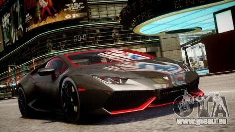 Lamborghini Huracan LP610-4 SuperTrofeo pour GTA 4 Vue arrière de la gauche