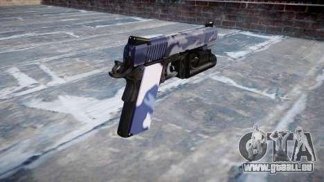 Pistolet Kimber 1911 Tigre Bleu pour GTA 4 secondes d'écran