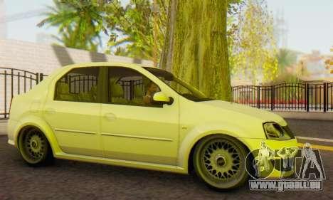 Dacia Logan White für GTA San Andreas linke Ansicht