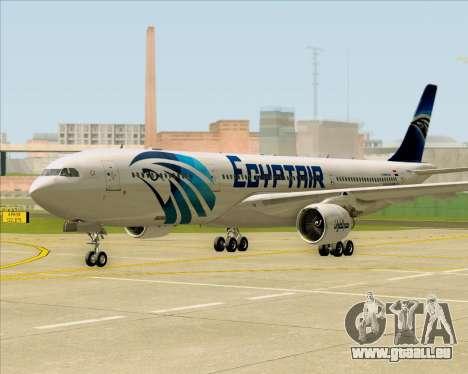 Airbus A330-300 EgyptAir für GTA San Andreas linke Ansicht