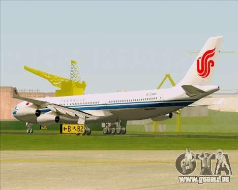Airbus A340-313 Air China für GTA San Andreas rechten Ansicht