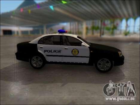 Chevrolet Evanda Police pour GTA San Andreas vue intérieure