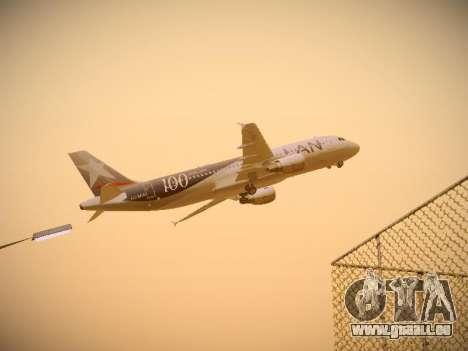 Airbus A320-214 LAN Airlines 100th Plane pour GTA San Andreas vue intérieure