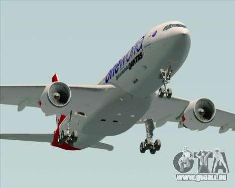 Airbus A330-200 Qantas Oneworld Livery pour GTA San Andreas vue de côté