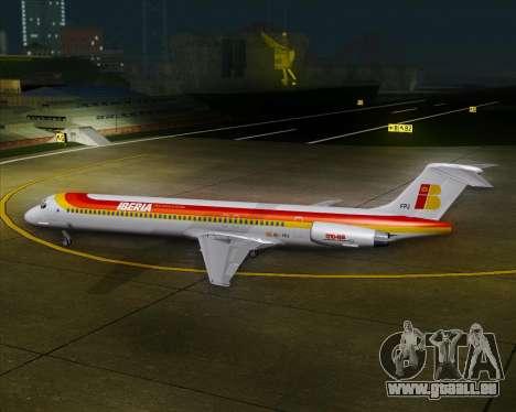 McDonnell Douglas MD-82 Iberia pour GTA San Andreas vue de dessous