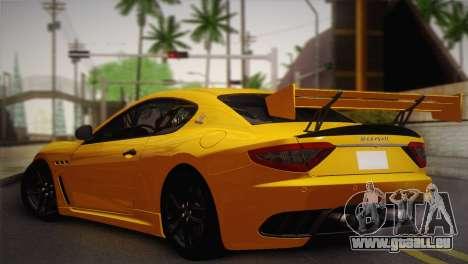 Maserati Gran Turismo MC Stradale pour GTA San Andreas laissé vue