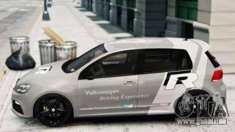 Volkswagen Golf R 2010 Driving Experience pour GTA 4 Vue arrière de la gauche