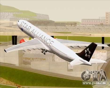 Airbus A330-300 SAS (Star Alliance Livery) für GTA San Andreas Räder