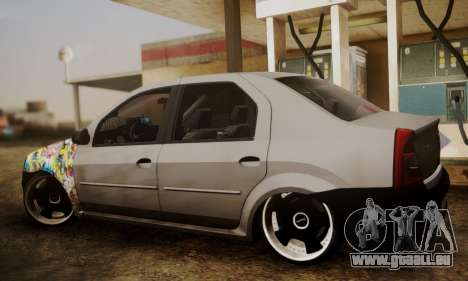 Dacia Logan Sedan Tuned pour GTA San Andreas laissé vue