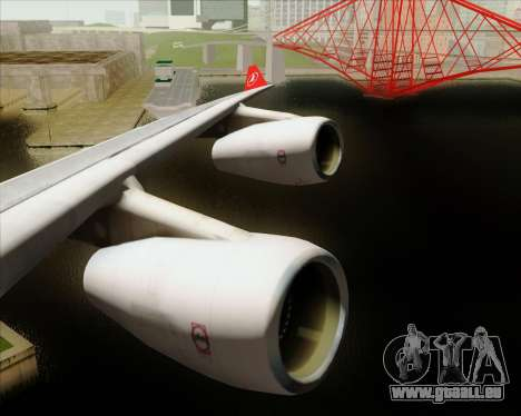 Airbus A340-313 Turkish Airlines pour GTA San Andreas salon