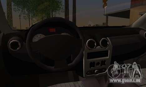 Dacia Logan Sedan Tuned für GTA San Andreas zurück linke Ansicht
