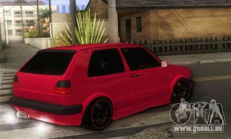 Volkswagen Golf Mk2 Low Life für GTA San Andreas linke Ansicht