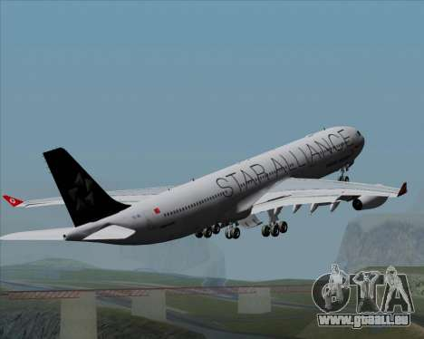 Airbus A340-311 Turkish Airlines (Star Alliance) pour GTA San Andreas moteur