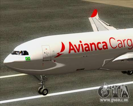 Airbus A330-243F Avianca Cargo für GTA San Andreas rechten Ansicht