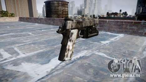Pistolet Kimber 1911 Ghotex pour GTA 4 secondes d'écran