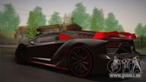 GTA 5 Zentorno (IVF) pour GTA San Andreas laissé vue