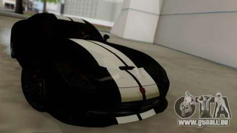Dodge Viper SRT GTS 2013 Road version pour GTA San Andreas vue de côté