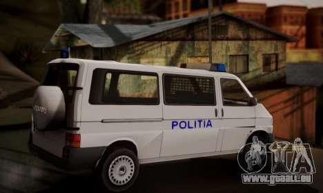 Volkswagen Caravelle Politia für GTA San Andreas linke Ansicht