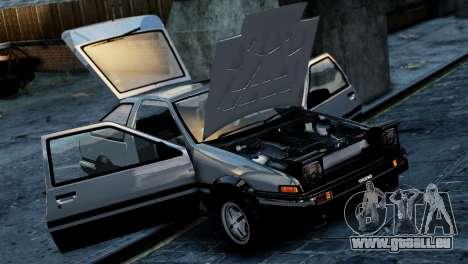 Toyota Sprinter Trueno AE86 Zenki für GTA 4 hinten links Ansicht