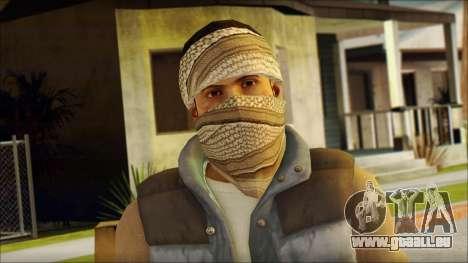 Arabian Resurrection Skin from COD 5 für GTA San Andreas dritten Screenshot