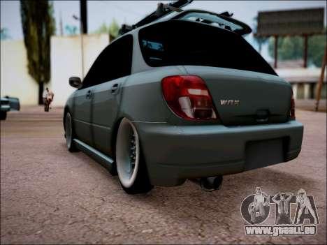 Subaru Impreza Wagon 2002 pour GTA San Andreas laissé vue