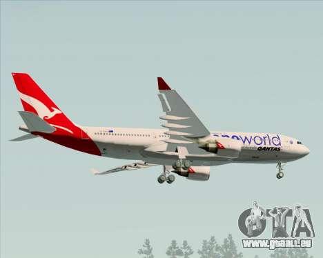Airbus A330-200 Qantas Oneworld Livery pour GTA San Andreas vue arrière